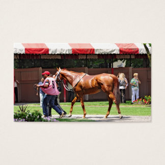 State Flag in the Saratoga Paddock Business Card
