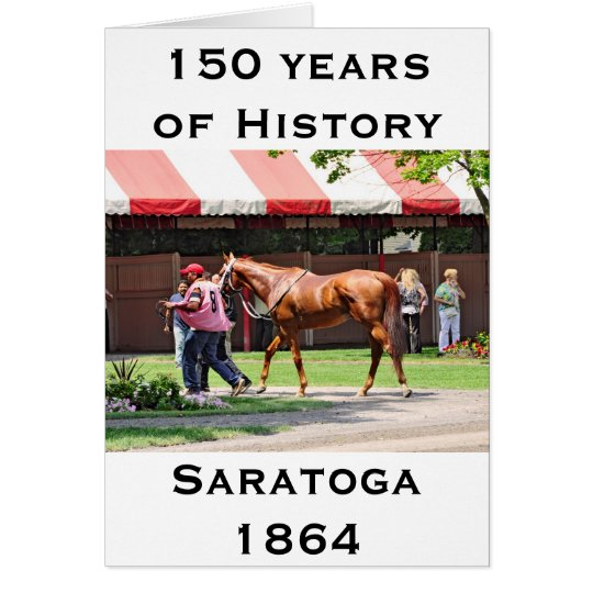 State Flag in the Saratoga Paddock Card