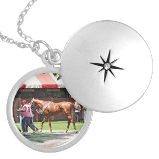 State Flag in the Saratoga Paddock Locket Necklace
