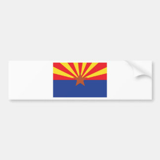 State Flag of Arizona Bumper Sticker
