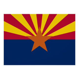 State Flag of Arizona Poster