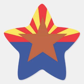 State Flag of Arizona Star Sticker