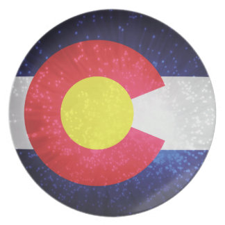 State Flag of Colorado Melamine Plate