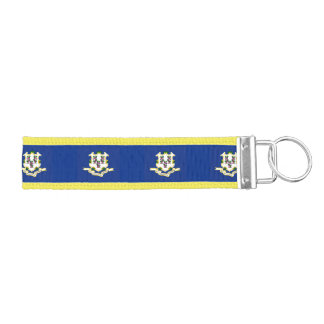 State Flag of Connecticut Wrist Keychain