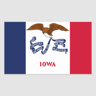 State Flag of Iowa Rectangular Sticker