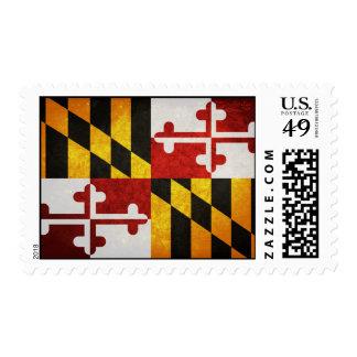 State Flag of Maryland Postage Stamp