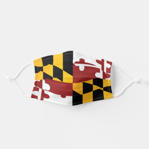 State Flag of Maryland USA Cloth Face Mask