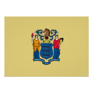 State Flag of New Jersey Poster