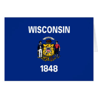 State Flag of Wisconsin Card