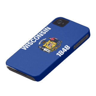 State Flag of Wisconsin iPhone 4 Case-Mate Case