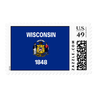 State Flag of Wisconsin Stamp