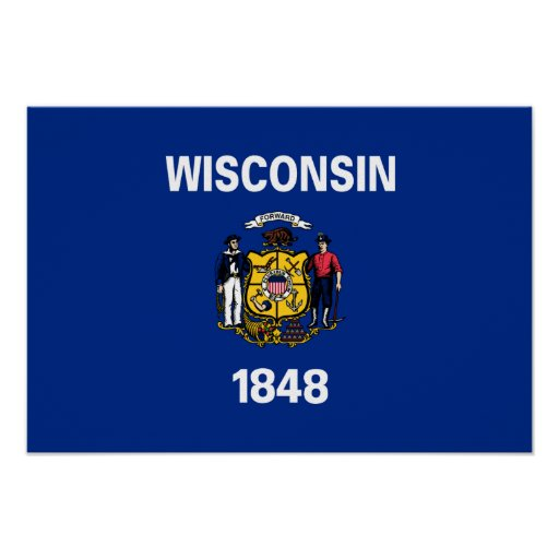 State Flag of Wisconsin Poster