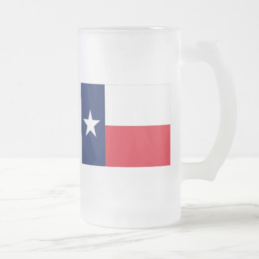state flag texas 16 oz frosted glass beer mug