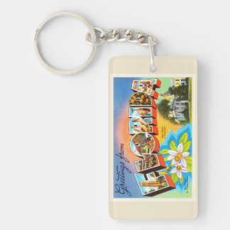 State Florida FL Old Vintage Travel Souvenir Keychain