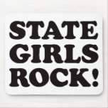 State Girls - Black Mouse Mats