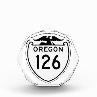 State Highway 126, Oregon, Old Style 1948 Acrylic Award