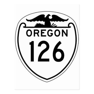 State Highway 126, Oregon, Old Style 1948 Postcard