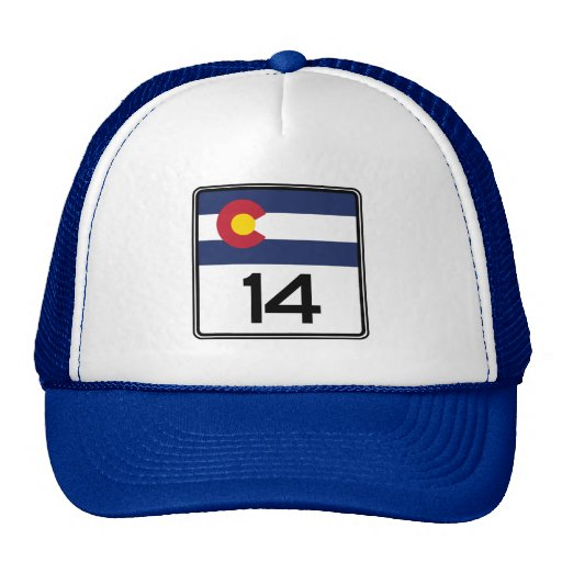 State Highway 14, Colorado, USA Trucker Hats