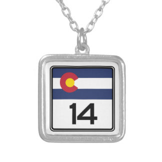 State Highway 14, Colorado, USA Custom Necklace