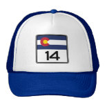 State Highway 14, Colorado, USA Trucker Hat