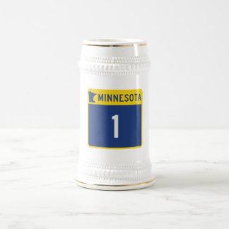 State Highway 1, Minnesota, USA Beer Stein
