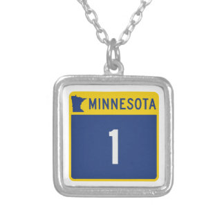 State Highway 1, Minnesota, USA Custom Necklace