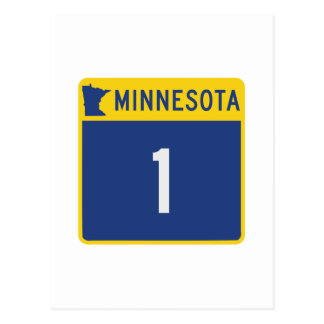 State Highway 1, Minnesota, USA Postcard