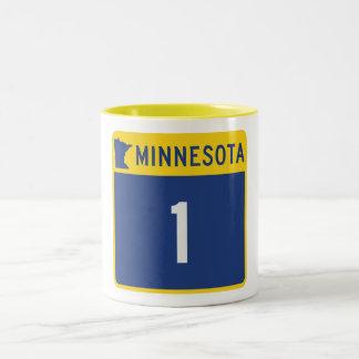 State Highway 1, Minnesota, USA Two-Tone Coffee Mug