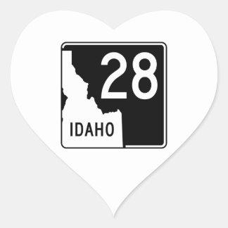State Highway 28, Idaho, USA Heart Sticker