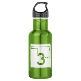 State Highway 3, Oklahoma, USA 18oz Water Bottle