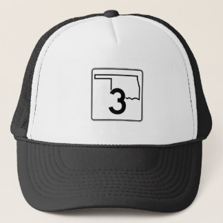 State Highway 3, Oklahoma, USA Trucker Hat