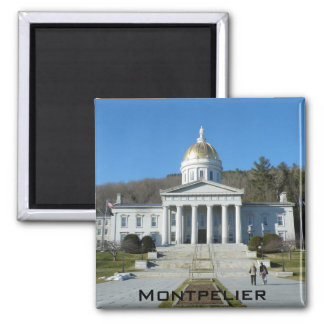 State House 2 Inch Square Magnet