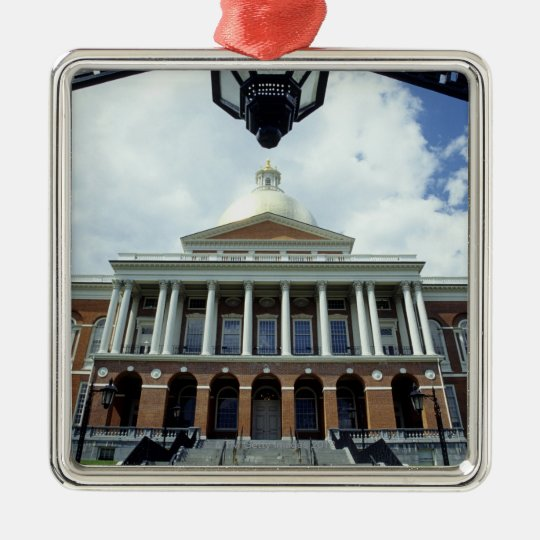 State House Capitol Building, Boston, MA, USA Metal Ornament