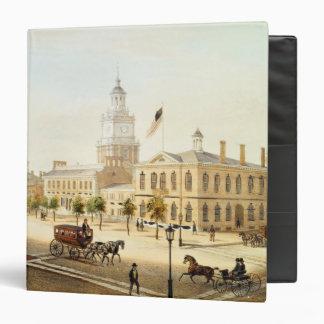 State House, Philadelphia, engraved by Deroy Binder