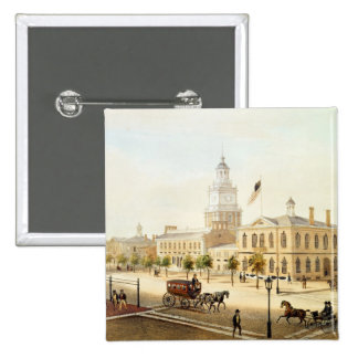 State House, Philadelphia, engraved by Deroy Button