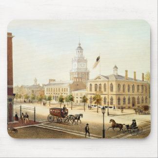 State House, Philadelphia, engraved by Deroy Mouse Pad