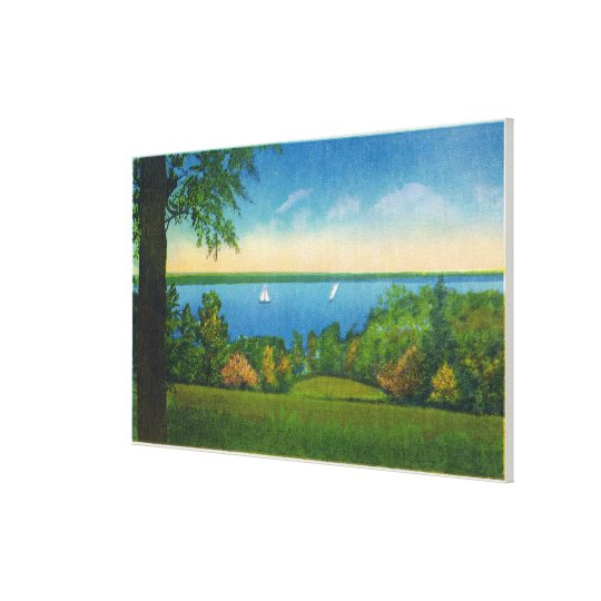 State Hwy Scenic View of Owasco Lake Canvas Print