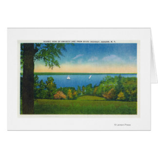 State Hwy Scenic View of Owasco Lake Card