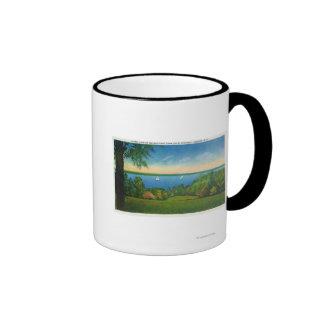 State Hwy Scenic View of Owasco Lake Ringer Coffee Mug