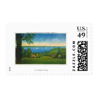 State Hwy Scenic View of Owasco Lake Postage