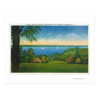State Hwy Scenic View of Owasco Lake Postcard