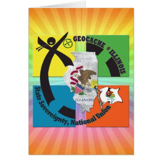 STATE ILLINOIS STATE MOTTO GEOCACHER CARD