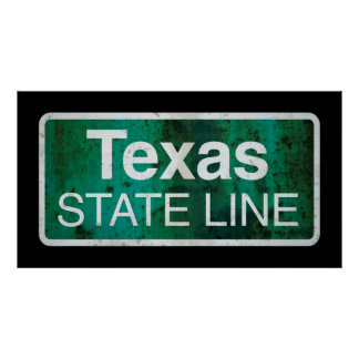 STATE LINE TEXAS POSTER