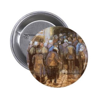 State Lottery Office (Poor Money) Vincent van Gogh 2 Inch Round Button