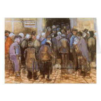 State Lottery Office (Poor Money) Vincent van Gogh Greeting Card