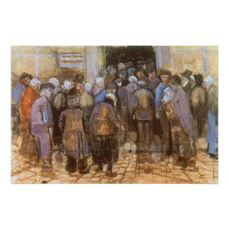 State Lottery Office (Poor Money) Vincent van Gogh Print