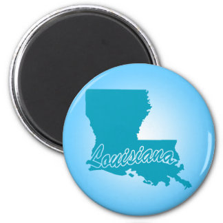State Louisiana 2 Inch Round Magnet