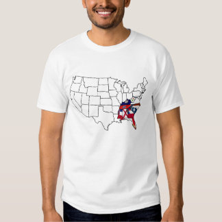 STate map in work T Shirt