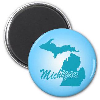 State Michigan 2 Inch Round Magnet