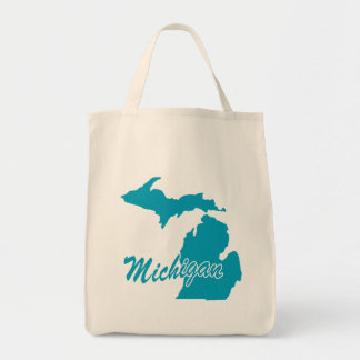 State Michigan Tote Bag